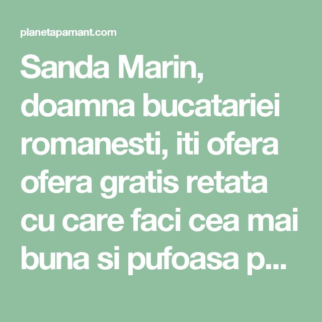 Sanda Marin, doamna bucatariei romanesti, iti ofera ofera gratis retata cu care faci cea mai buna si pufoasa paine de casa! Altii platesc pentru ea