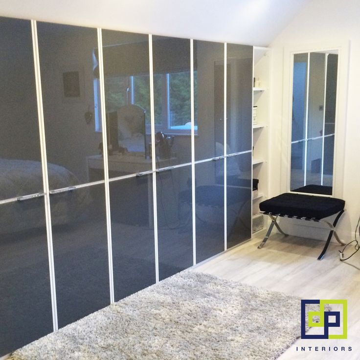 Nolte delbruck bedroom fitted wardrobes in gloss anthracite
