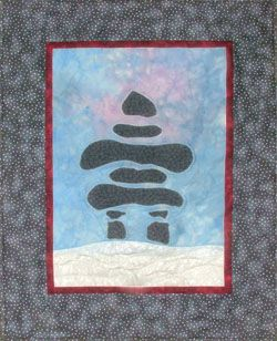 original Inukshuk quilt design by Shirley Connolly