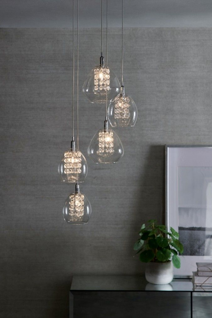 Next Bella 5 Light Cluster Clear In 2020 Hanging Lights Ceiling Lights Light Fittings