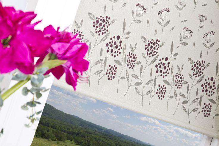 Eclipse Blinds Floral Border Roller Blind Fabric Fabric Roller Blinds Eclipse Blinds Roller Blinds