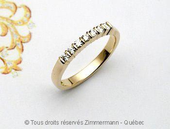 Bague Or Diamants 7 X 3/100 ct