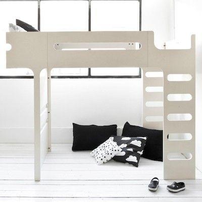 F bunk bed white wash
