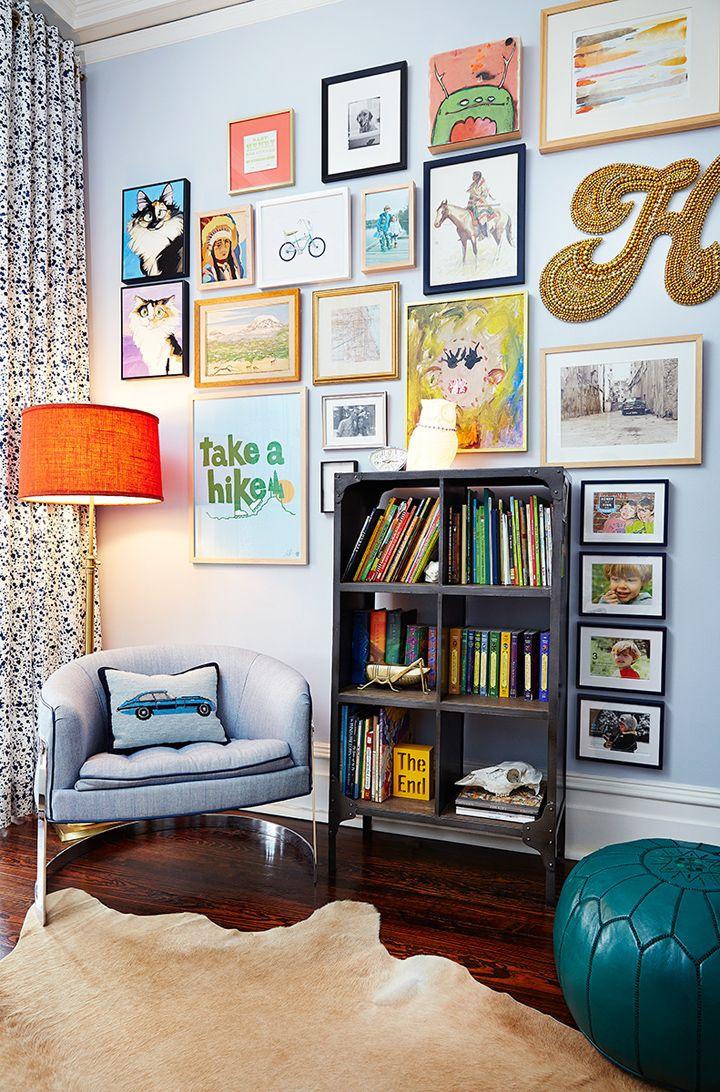fun gallery wall | Amie Corley Interiors