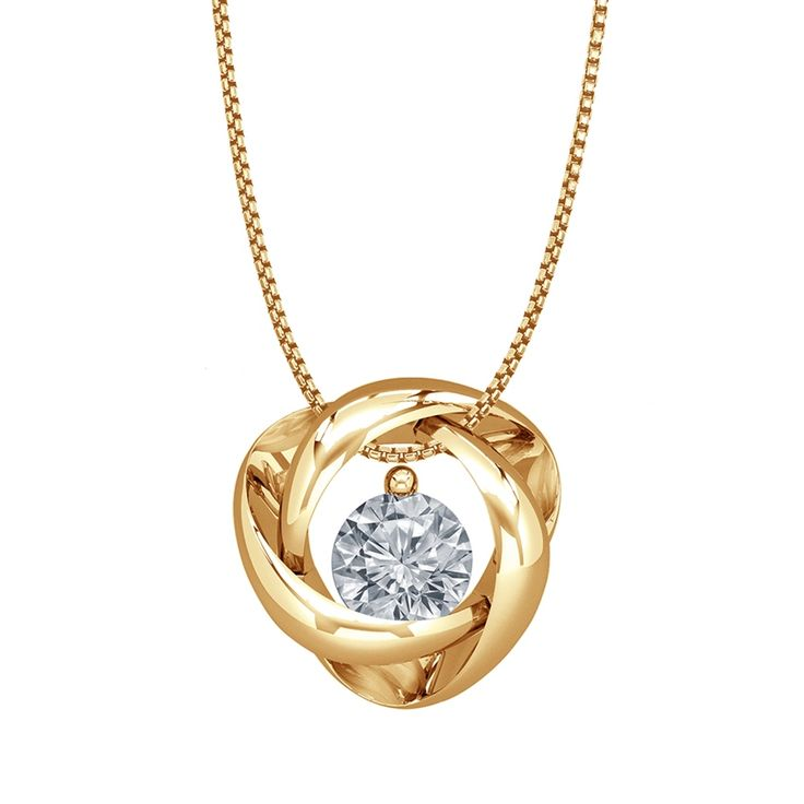 1/4CT IN 14KT YELLOW GOLD AND DIAMOND PENDANT 18 INCHES TC89 - Michaels Jewelers