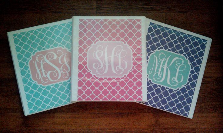 FREE DIY Monogram Binder Covers- Just made this, super easy and cute