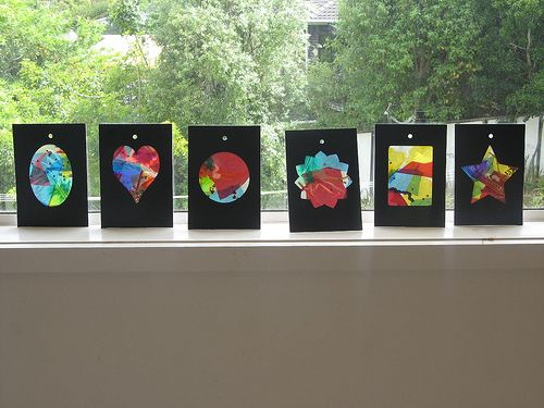 Billie's Christmas gift stained glass windows - from Kids Craft Weekly by thinkingchair, via Flickr