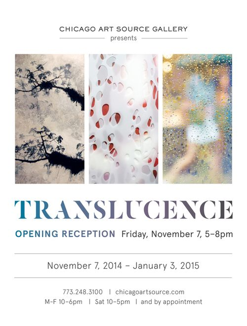 Translucence | A small group show featuring new work by Jane Guthridge, Gosia Podosek and Bill Sosin