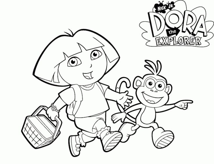 online dora the explorer coloring pages