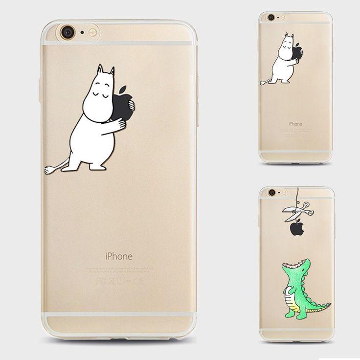 Crocodile Moomin muumi hippo Case For Apple iPhone 7 6 6s Plus 5s SE Transparent Clear Soft Silicone TPU cute Cartoon Cover