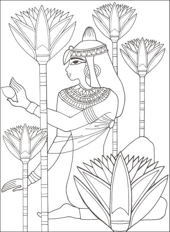 Egyptian Goblet Coloring Pages | ... Ancient Egypt (Designs for Coloring) | Additional photo (inside page