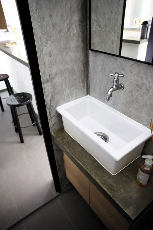 31 best images about ny loft on pinterest industrial for Bathroom sink singapore