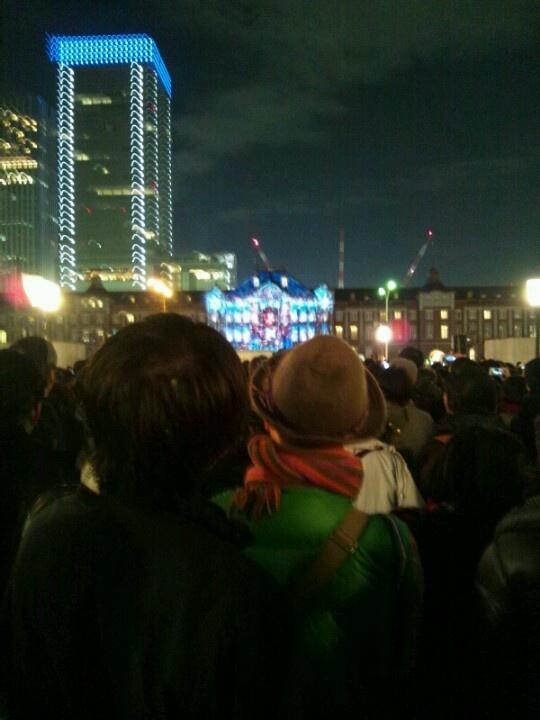 2012.12.22 幻の(?)東京ミチテラスのプロジェクションマッピング