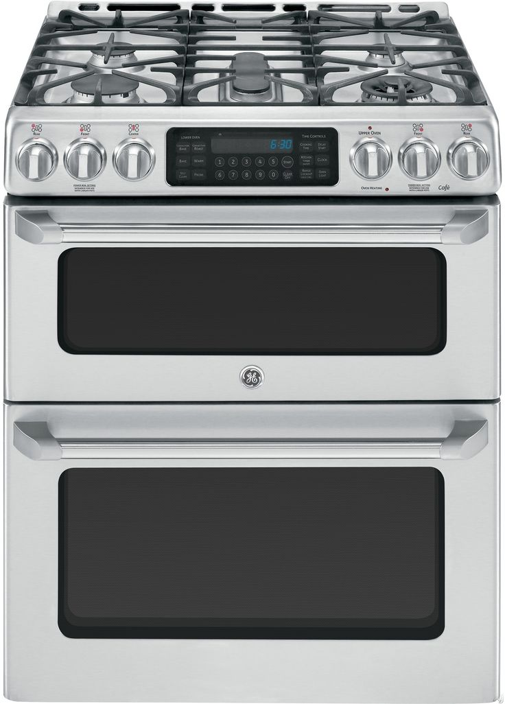 """GE CGS990SETSS 30"""" Freestanding Gas Range with 5 Sealed Burners, 20,000 BTU Tri-Ring Burner, Precise Simmer Burner, 6.7 cu. ft. Convection Double Oven, Self-Clean and Griddle Accessory"""