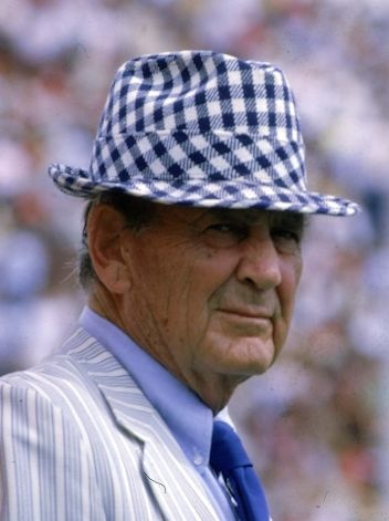 Paul Bear Bryant University Of Alabama Football Coach Wears His Usual Hat