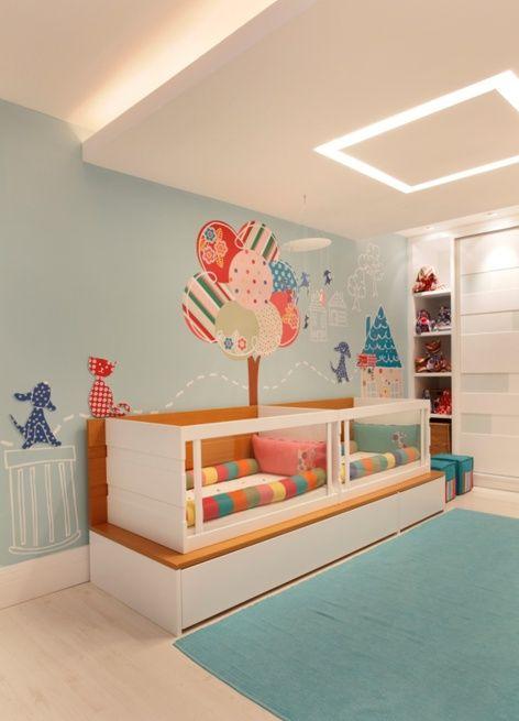 idéia bacana para quarto de menina e menino.