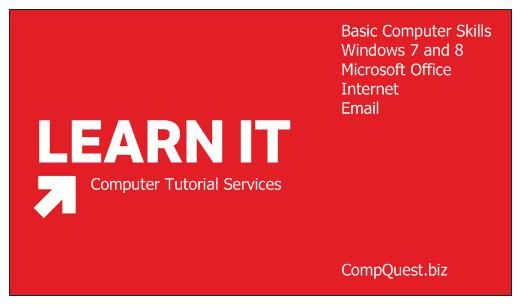 Whether you make an upgrade to Windows 8 or simply need a computer refresher, CompQuest Technology can show you computer basics. #computer #CompQuest #Technology