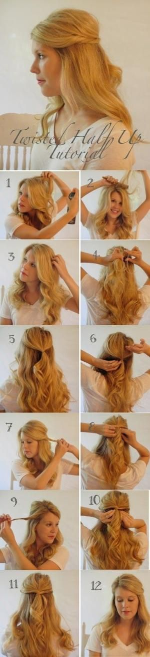 Twisted Half Up Hair Tutorial by ppamerican