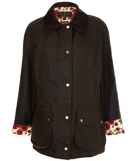 Does she love her Barbours? Or a Liberty print fan? Try this exclusive waxed cotton jacket in a floral Liberty Rose print twist. - BARBOUR OLIVE BEADNELL ROSE LIBERTY PRINT JACKET