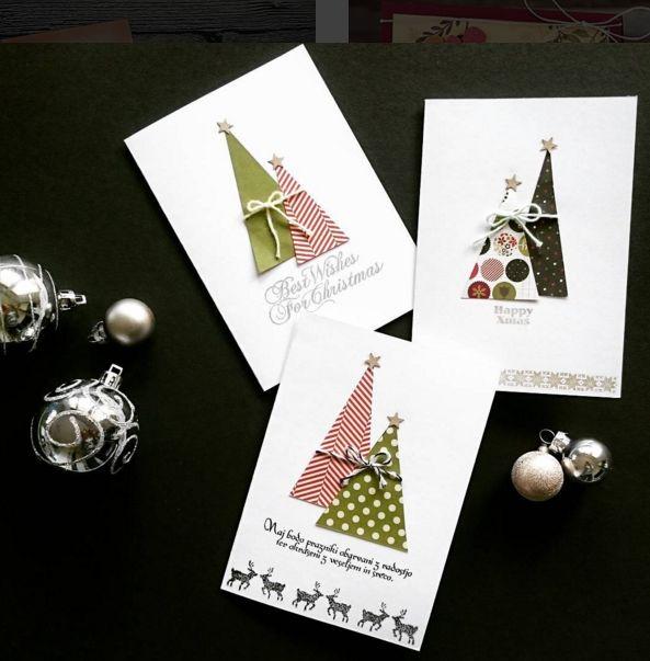 Kartki świąteczne DIY, ręcznie robione kartki świąteczne, fot. instagram.com/jassmina987