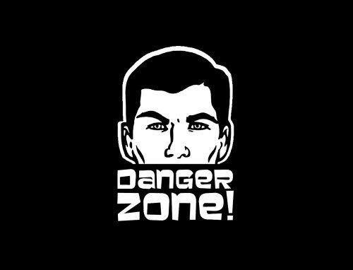 Sterling Archer Danger Zone Die Cut Decal Sticker by ROXXORDecals