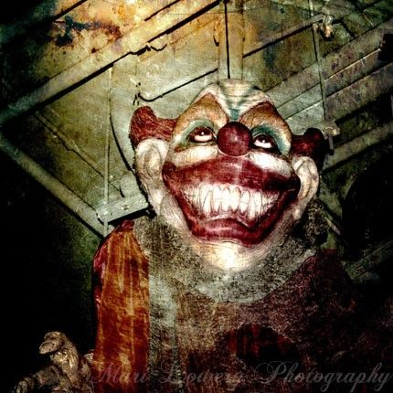 Creepy Clown Photo Crusty the Clown Halloween by Frankenkitty, $25.00
