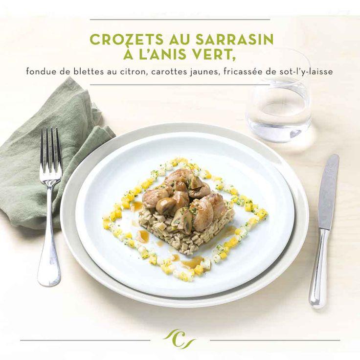 [Carte Enchantement Quotidien] Crozets au sarrasin à l'anis vert, carottes jaunes, fricassée de sot-l'y-laisse #ChefCuisine #MonChefCuisine #gastronomiealamaison #gastronomie #AnneSophiePic #food #cordonbleu #french #chef #foodie