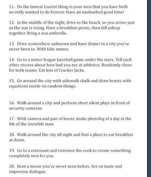 Cute/funny bucket list part 2