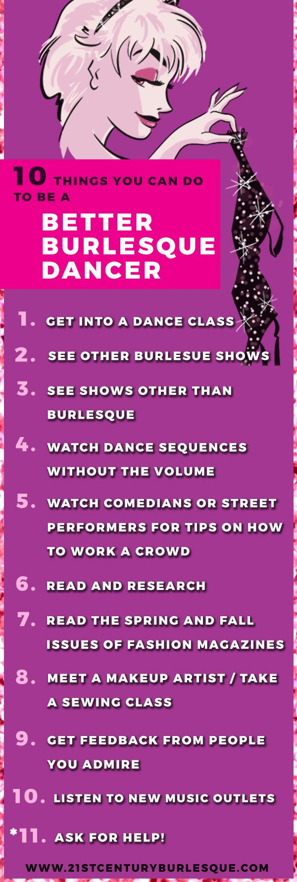 10 Things You Can Do to be a Better Burlesque Dancer Tutorial