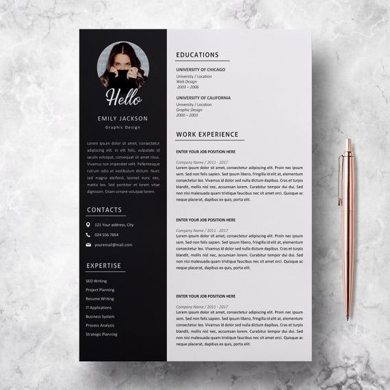 Professional Resume Template Professional Cv Template For Ms Word Modern Resume Design Resume With Photo Resume Instant Download Lebenslauf Design Cv Lebenslauf Lebenslauf