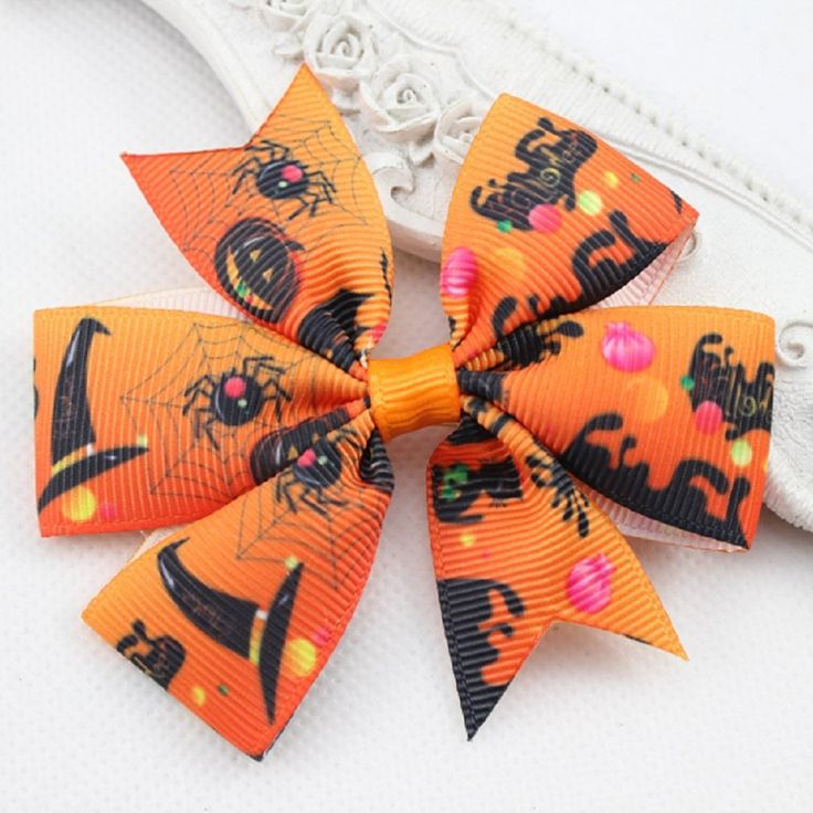 Halloween Hair Bow Clips Baby Girl Hair Accessories - Set of 2 *** You can find out more details at the link of the image.