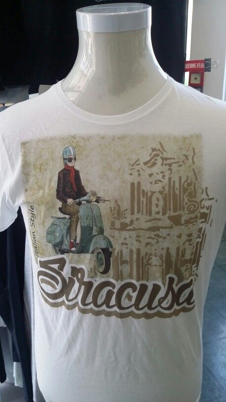 Tshirt Siracusa stampata con Texjet