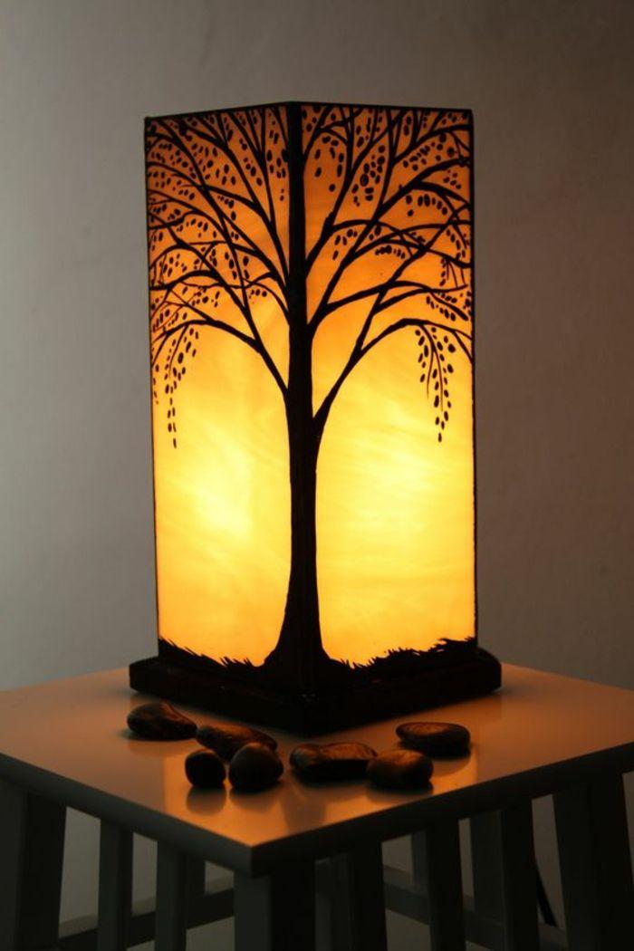 Bastelanleitung Laterne Eckiger Tisch Tischlampe Papierlaterne Baum Lampe In 2020 Laternen Basteln Lampenschirm Papier Farbe Fur Glas
