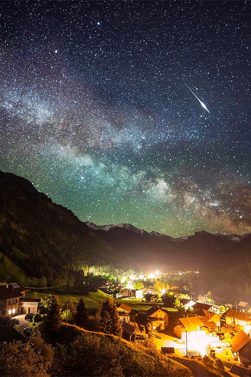 Amazing Milky Way, Alps, Bavaria, Germany