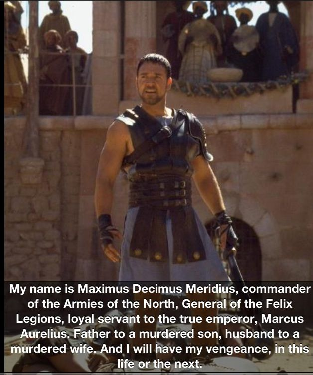 Best movie quote ever.... I think so!! #Gladiator