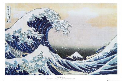 冨嶽三十六景・神奈川沖浪裏, 1829 ポスター