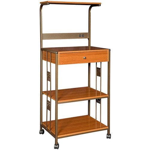 Microwave Stands With Storage Industries Cart Metal Wood Cherry