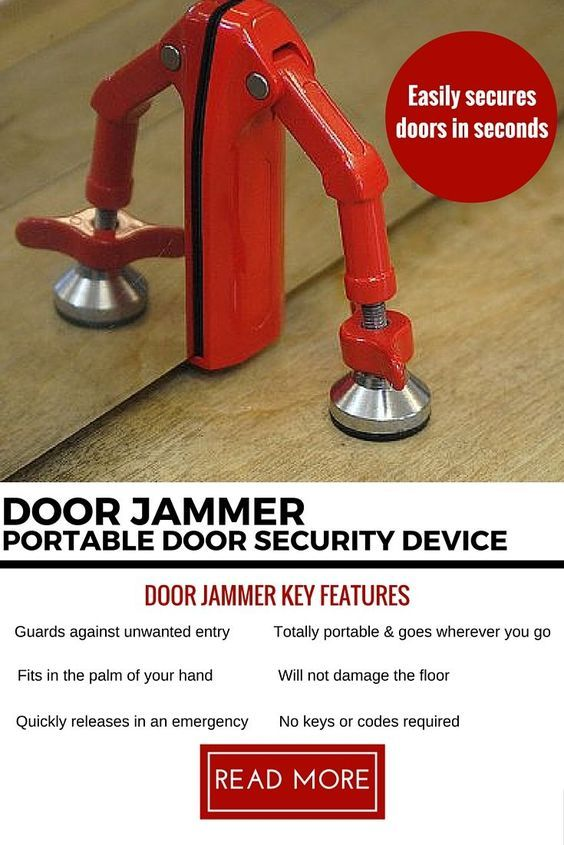 The Door Jammer is a simple way to prevent unwanted intrusions into any room.