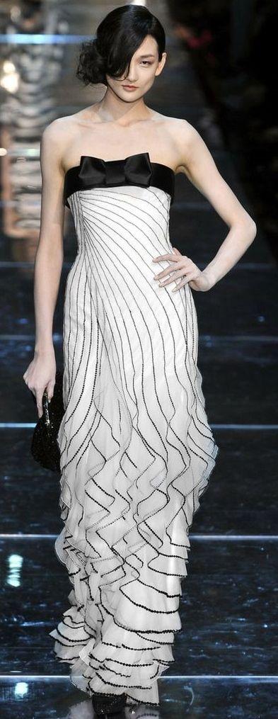 Fluid Movement. Armani Couture Fall 2008