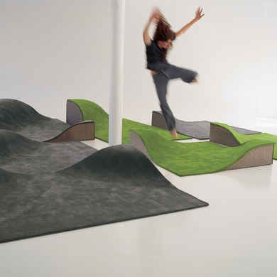 FLYING CARPET- A 3-dimensional carpet perfect for the kids or youth section in any library. Design: Ana Mir & Emili Padrós, Nanimarquina