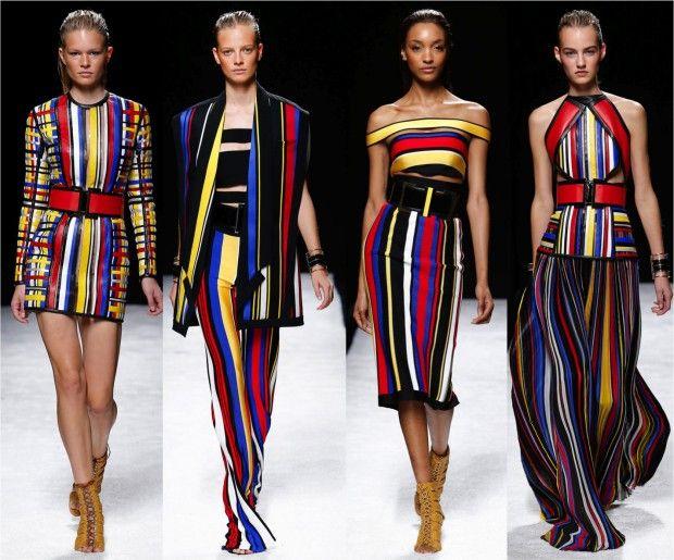 Balmain Collection - inspirada em Mondrian e na coleção de Yves Saint Laurent