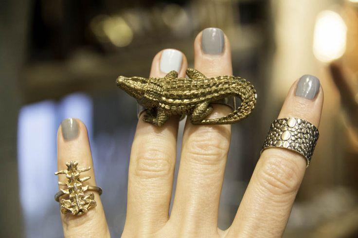Cool rings at Elena Estaun Barcelona