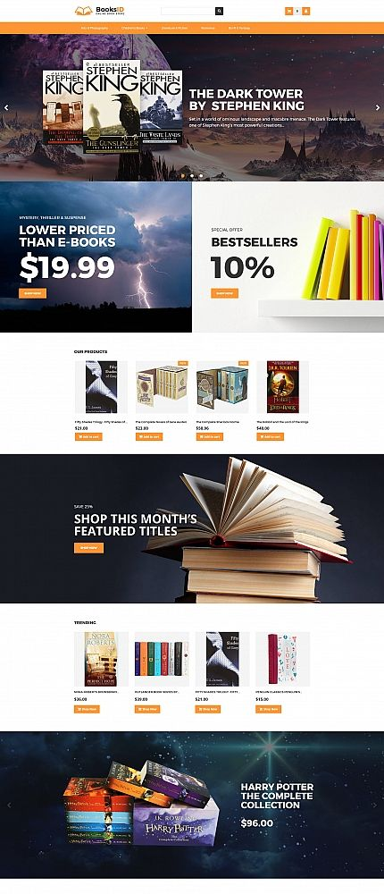 BooksID - Online Book Store MotoCMS Ecommerce Template