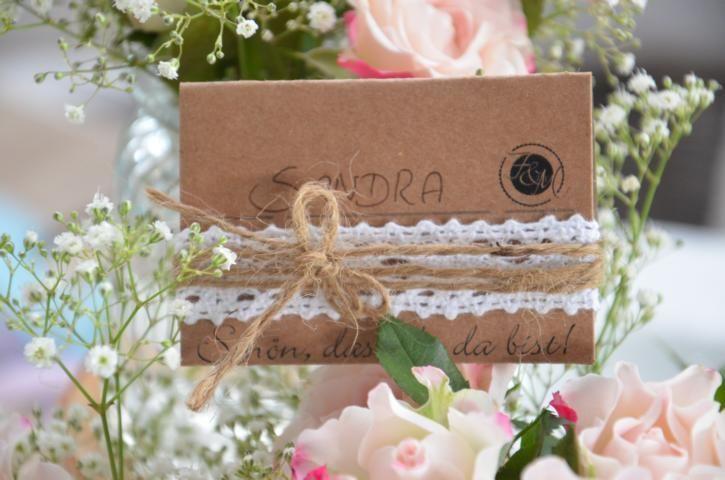 Tischkarte+Namensschild+Hochzeit+Vintage+von+Majalino+auf+DaWanda.com