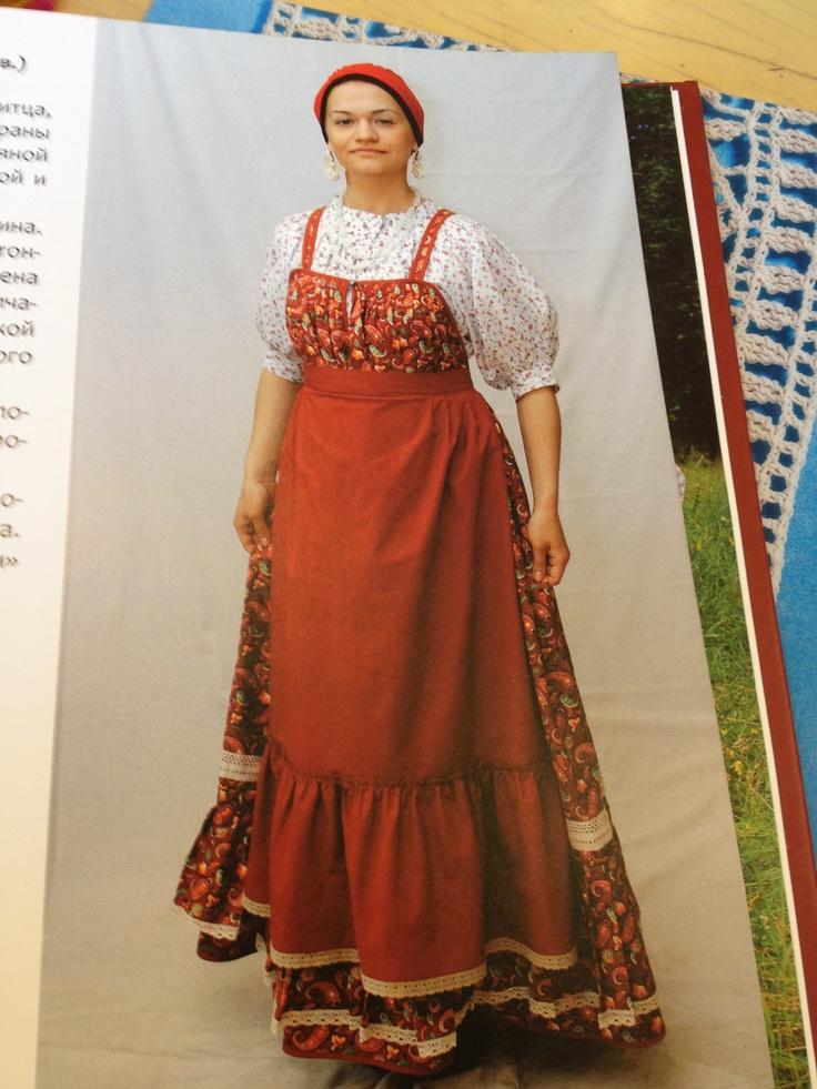Russian dress with a nice hemline