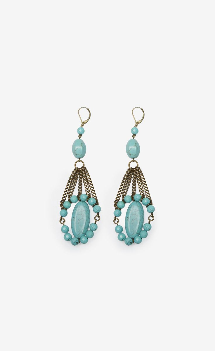 Isabel Marant Teal And Gold Earrings