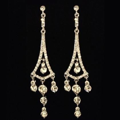 Dangle Silver Earrings At Promdress