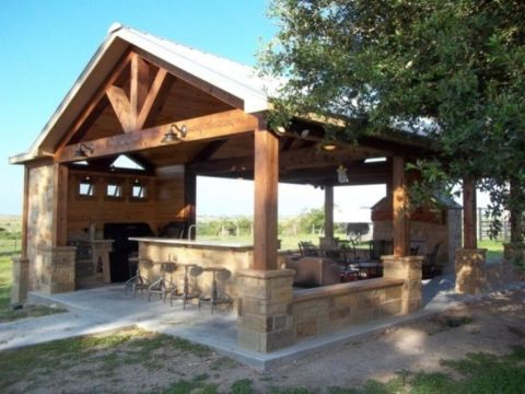 creative outdoor kitchens and pergolas on pinterest