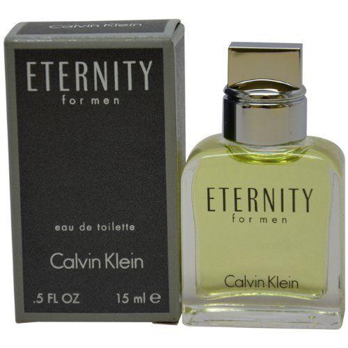 Eternity Men Eau De Toilette Splash by Calvin Klein, Mini, 0.5 Ounce by Calvin Klein. $14.00. Eternity by Calvin Klein for Men - 15 ml EDT Splash (Mini). Eternity by Calvin Klein for Men. Eternity by Calvin Klein for Men - 15 ml EDT Splash (Mini)