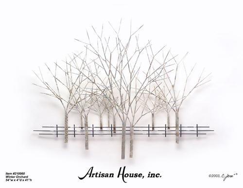 Winter Orchard - Artisan House - Tree Wall Sculpture